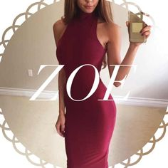 • Reserved • for Zoey • Burgandy Mock Neck Dress (L) • Black Puffy Sweater (M) Other