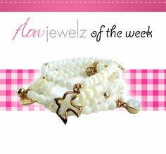 a lovely white bracelet