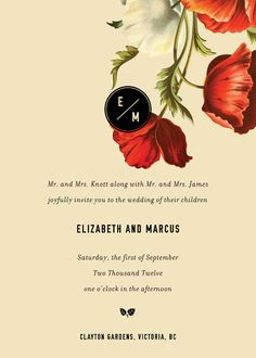 Stationary.  The more realistic illustration and the thicker sanserif font choice in the headings provide a firm/real sentimate over the cutesy flowers sometimes adorning wedding invitations.