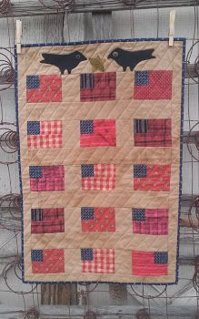 quiltsbycheri   - simply flags & crows.....free design