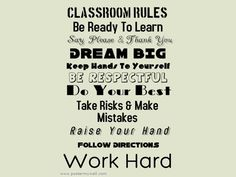 A Really, Really Well-Written Set Of Classroom Rules