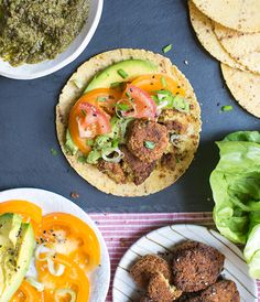 Falafel Tacos with Avocado & Green Harissa | What's Cooking Good Looking