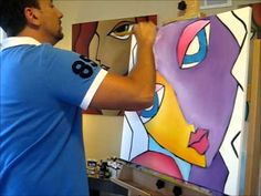It Girl by Thomas Fedro - The making of a pop art girl painting - Fidost...
