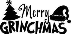 """Merry Ginchmas"" vinyl Christmas craft decal home decor ideas"