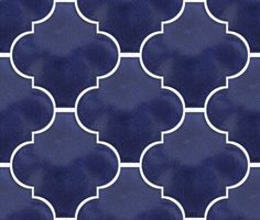 Cobalt Blue Arabesque Lantern Tile, a closer look at this stunning colour! Old World Tiles oldworldtiles.com.au