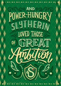 'Loved those of great ambition' Slytherin quote | Harry Potter