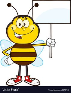 Protesting Bumble Bee Cartoon. Download a Free Preview or High Quality Adobe Illustrator Ai, EPS, PDF and High Resolution JPEG versions.