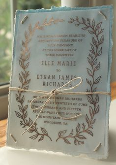 Foil Foliage Wedding Invitations on Behance