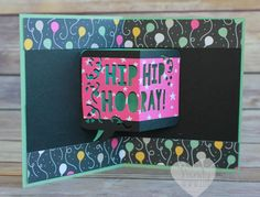 Pop up birthday card created using the Party Pop Up framelits and the Party with Cake stamp set from Stampin' UP! created by Wendy Cranford www.luvinstampin.com