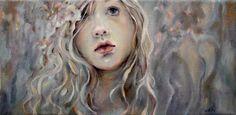 "Original Oil on Canvas by Moonglance OOAK Portrait 6""X12"" | eBay"