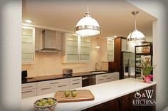 """SW Kitchens :: Transitional Townhome Kitchen / Our """"Preston"""" made the photo shoot!  How cool is that! TY @thefrontdrawer"""