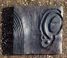 'waves to the shore' charred oak by Michael Fairfax