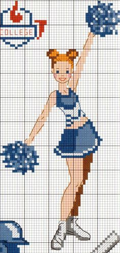 Cheerleader cross stitch