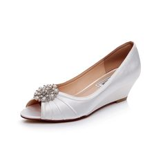 924090247 26 Best LUXVEER Ivory Wedding Wedges with Pearl Rhinestones