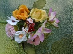 Cluster of Flowers Velvet Silk Combination by circabear on Etsy, $4.85