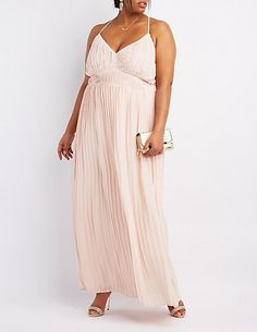 V neck maxi dress plus size blush