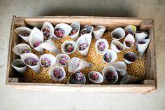 Prairie Farm Wedding - simple to hold bird seed at the send off? Autumn Wedding, Farm Wedding, Diy Wedding, Rustic Wedding, Wedding Day, Italy Wedding, Wedding Exits, Wedding Ceremony, Wedding Trends