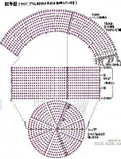 Than Fedora Hat Crochet Pattern Free 15 Crochet Diagram, Filet Crochet, Crochet Stitches, Crochet Summer Hats, Crochet For Kids, Crochet Hats, Diy Crafts Crochet, Crochet Projects, Sombrero A Crochet