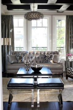 Grey glam  Luxurious interior design ideas perfect for your projects. #interiors #design #homedecor www.covetlounge.net
