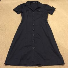The limited button down work dress Great for the office, button down front shirtsleeve dress The Limited Dresses