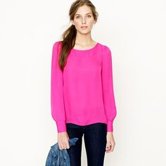 Bright colored blouses from JCrew