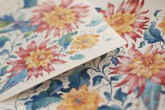 The Lost World watercolor patterns by Tetiana Kartasheva, via Behance