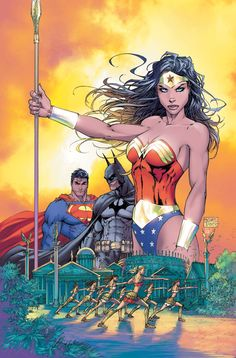 Wonder Woman, Superman, Batman Justice League art by Michael Turner. Michael Turner, Comic Book Artists, Comic Book Heroes, Comic Artist, Comic Books, Dc Comics Characters, Dc Comics Art, Marvel Dc Comics, Ms Marvel