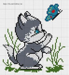 Those who want to do September cleaning from the broken glass on the shelf - ponto cruz Cross Stitch Love, Cross Stitch Cards, Cross Stitch Animals, Cross Stitch Designs, Cross Stitching, Cross Stitch Embroidery, Cross Stitch Patterns, Owl Quilt Pattern, Pixel Pattern