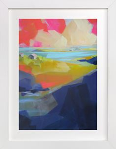 """Gone Coastal"" - Art Print by Jess Franks in beautiful frame options and a variety of sizes."