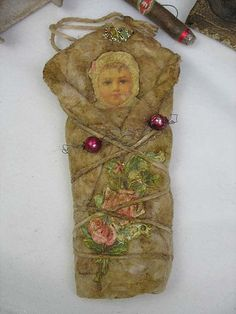 Spun cotton Baby Girl ornament