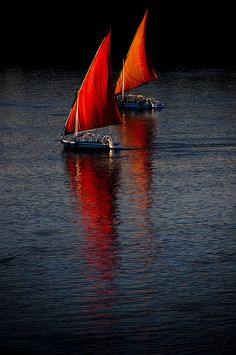 Red Sails in the sunset. (by c_m_s_99, via Flickr)