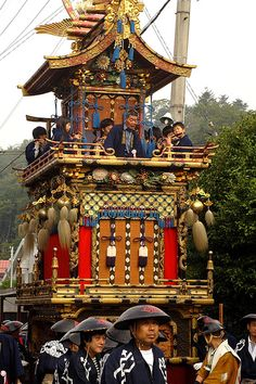 Takayama Matsuri is said to be one of the three most beautiful festivals in Japan.  In Spring and Autumn the old town of Takayama hosts its two enchanting festivals involving tall, ornately decorated floats and shrines that are pulled through the town.