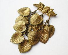 Vintage 40s Miriam Haskell Style Czech Gold by SoCalJewelBox