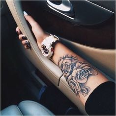 this rose sleeve., - why not visit our site for more inspirational tattoo ide. - this rose sleeve., – why not visit our site for more inspirational tattoo ideas? Girly Tattoos, Tattoos Masculinas, Girl Arm Tattoos, Wrist Tattoos, Trendy Tattoos, Tattoos For Guys, Sleeve Tattoos, Cool Tattoos, Floral Tattoos