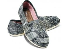 $115 size 7.5. I hate the price of these, but I LOVE the look because, well, it's no secret that I'm a fan of snakes! TOMS+ Grey Serpentine Women's Classics | TOMS.com