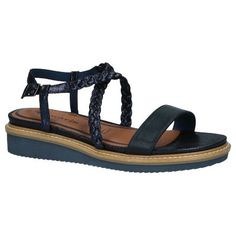 Sandalen met Sleehak Donkerblauw Tamaris Touch It Must Haves, Sandals, Shoes, Fashion, Moda, Zapatos, Shoes Outlet, Fasion, Footwear