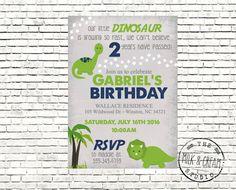 Dinosaur Boys Birthday Navy Blue Green Party by themilkandcreamco