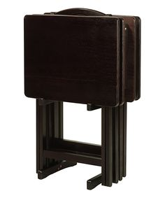 Another great find on #zulily! Dark Tray Table Set by Casual Home #zulilyfinds