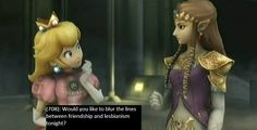 Peach: Am I'm Cute?  Zelda: Yes!