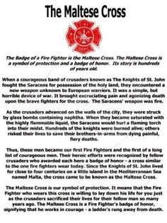 Fireman / Paramedic / Story of the Maltese Cross
