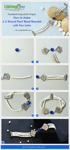 How to Make Vintage Pearl Beads Bracelet Link 3 pearl beads strands with fan components and bead link, then you can get this simple yet vintage pearls bracelet quickly.