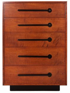 American art deco chest of drawers - made by Modernage, one of the dominant furniture companies in New York during the 1930s
