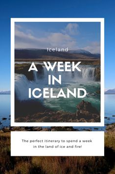 The perfect itinerary for a week road trip in Iceland Self Driving, Continents, Iceland, Adventure Travel, Claire, Travelling, Travel Tips, Beautiful Places, Road Trip