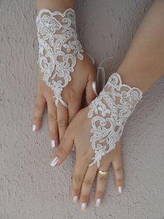 ivory wedding glove lace glove Bridal Glove ivory by WEDDINGHome, $25.00