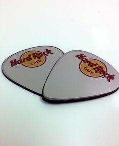 Hard Rock Cafe custom shaped name badges.  #namebadge #nametag #guitarpick #custom #badges #HardRockCafe