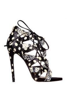 Fall and Winter Shoes: Sam Edelman Neve Polka Dot Strappy Heel