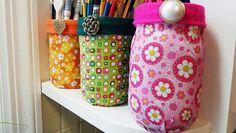 Mod Podge Fabric Jars