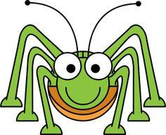 Cartoon Grasshopper by @StudioFibonacci, Cartoon Grasshopper in the style of Lemmling.