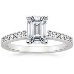 2mm  18K White Gold Starlight Diamond Ring from Brilliant Earth