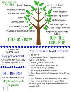 What Does PTO Fund? School Council Ideas, Pto Membership, Teacher Classroom Supplies, Money Chart, School Library Displays, Pta School, Binder Organization, Teacher Appreciation Week, The Help